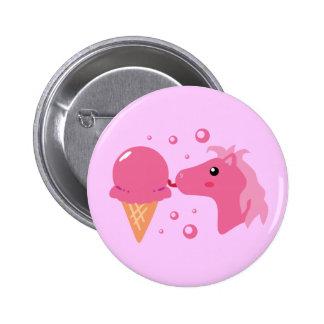 Eiscreme-Pony Runder Button 5,1 Cm