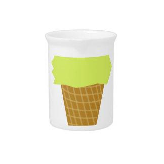 Eiscreme-Spaßartgelb Getränke Pitcher