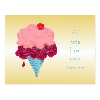 Eiscreme-Studenten-Willkommen von der Postkarte