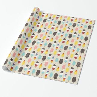 Eiscreme u. gefrorenes Leckerei-Sommer-Muster Geschenkpapier