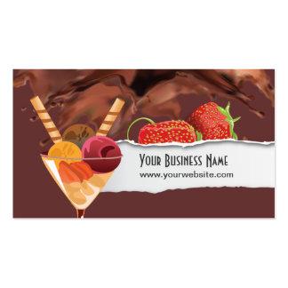Eiscreme-u. Schokoladen-Nachtisch-Visitenkarte