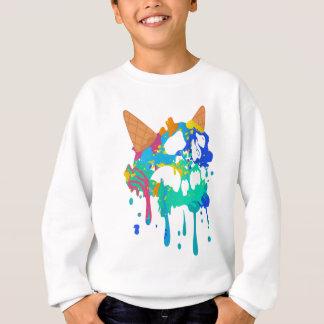 Eiscreme-Verwirrungs-süßer Schädel-trauriges Sweatshirt
