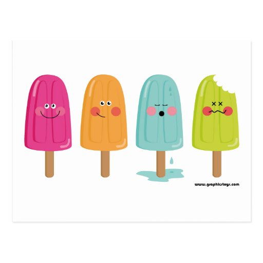 Eiscreme-Zitronenpostkarte Postkarten