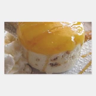 Eiscremekuchen der Aprikose Stau bedeckter Rechteckiger Aufkleber