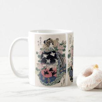 Eisen japanische Geisha-Druck-Tasse Kaffeetasse