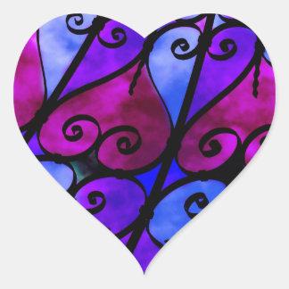 Eisen-plattierte Herzen Herz-Aufkleber
