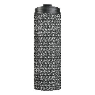 Eisen-Postgunmetal-Schwarz-Metallkettenrüstung Thermosbecher