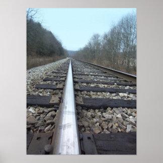 Eisenbahn-Bahn-Druck Poster