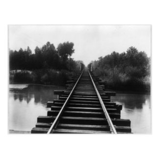 Eisenbahn-Brücke 1800's Postkarte