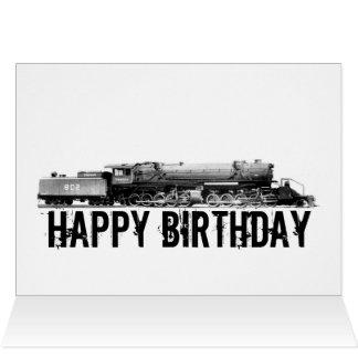 Eisenbahn-Geburtstags-Karte Karte