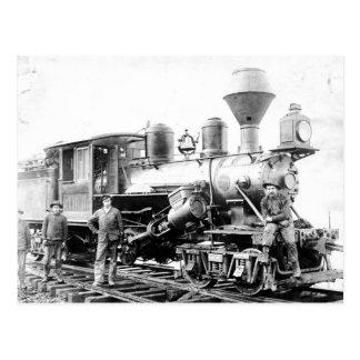 Eisenbahn-Lokomotive - Vintages Foto Postkarte