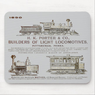 Eisenbahn-Lokomotiven 1890 H K Porter & Company Mousepad