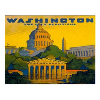 Eisenbahn Washington DCs Pennsylvania Retro Postkarte