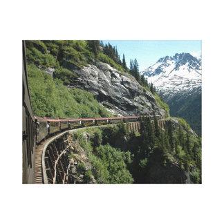 Eisenbahn Yukons Alaska Leinwanddruck