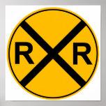 Eisenbahn-Zeichen-Plakat