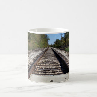 Eisenbahn-Zug spürt Foto auf Kaffeetasse