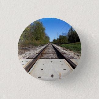 Eisenbahn-Zug spürt Foto auf Runder Button 2,5 Cm
