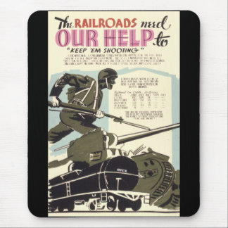Eisenbahnen benötigen unsere Hilfe Mousepad