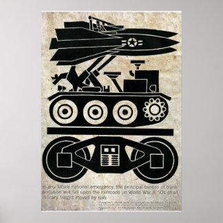 Eisenbahnen bewegten 90% aller Fracht in Weltkrieg Poster