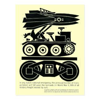 Eisenbahnen bewegten 90% aller Fracht in Weltkrieg Postkarte