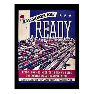 Eisenbahnen sind bereit postkarte