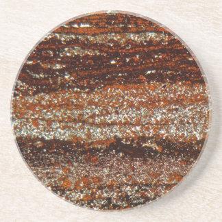 Eisenerz unter dem Mikroskop Getränkeuntersetzer