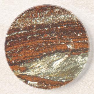 Eisenerz unter dem Mikroskop Sandstein Untersetzer