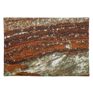 Eisenerz unter dem Mikroskop Stofftischset