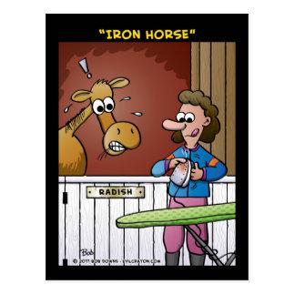 """Eisernes Pferd "" Postkarte"