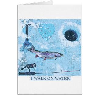 Eisfischen der Liebe I Grußkarte