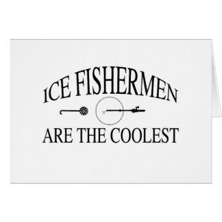 Eisfischer sind cool grußkarte