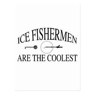 Eisfischer sind cool postkarte