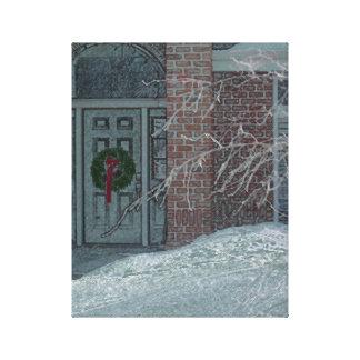 Eisige Feiertags-Tür Gespannte Galeriedrucke