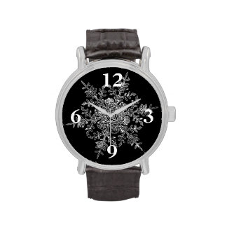 Eisige Flocke Uhren