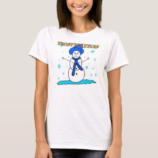 Eisige Nippel-Weihnachtst-shirts T-Shirt