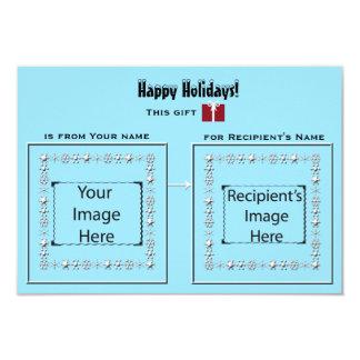 Eisige visuelle Stichwort-Karte für Geschenke 8,9 X 12,7 Cm Einladungskarte