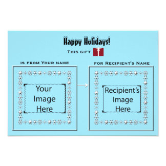 Eisige visuelle Stichwort-Karte für Geschenke Personalisierte Ankündigungen