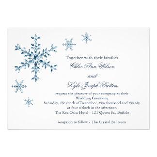 Eisige Winter-Schneeflocke-Hochzeits-Einladung