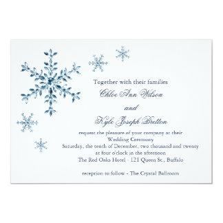 Eisige Winter-Schneeflocke-Hochzeits-Einladung 12,7 X 17,8 Cm Einladungskarte