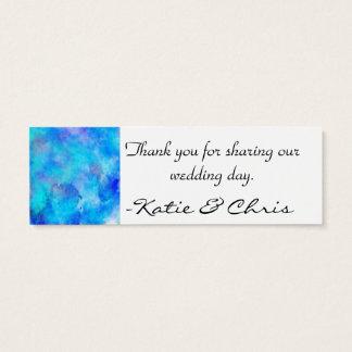 Eisiger blauer abstrakter Entwurf Mini Visitenkarte
