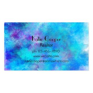 Eisiger blauer abstrakter Entwurf Visitenkarten