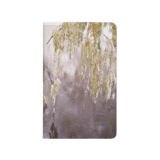 Eisiger Niederlassungs-Winter-Pond See-rustikale Taschennotizbuch