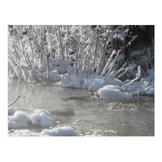 Eisiger See Postkarte