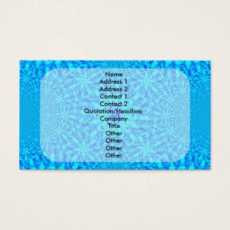 Eisiges blaues Fraktal-Monogramm F Visitenkarte