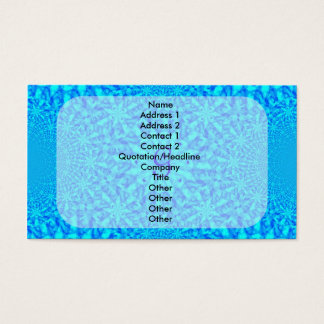 Eisiges blaues Fraktal-Monogramm G Visitenkarte