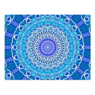 Eisiges blaues Windows-Kaleidoskop Postkarte