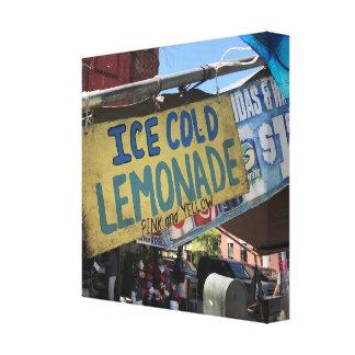Eiskalte Limonade, Straße angemessenes Upper West Leinwanddruck