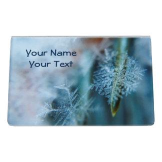 Eiskristall, Winterzeit, Schnee, Natur Schreibtisch-Visitenkartenhalter