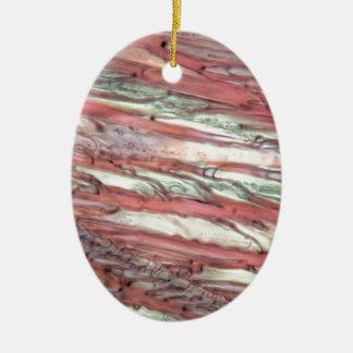 Eiskristalle des gefrorenen roten Traubensafts Ovales Keramik Ornament