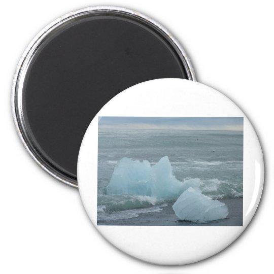 Eisschollen Runder Magnet 5,1 Cm